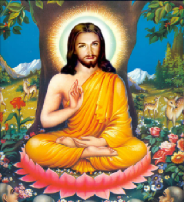 buddha and jesus christ in literature 1-12 of 480 results for books: buddha and jesus buddha and jesus  living buddha, living christ by thich nhat hanh (1997-09-01) 1800 paperback $2800 $ 28 00.